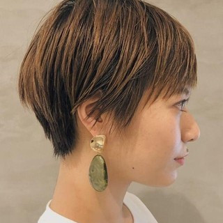 ハンサムショート 似合わせカット PEEK-A-BOO ショート ヘアスタイルや髪型の写真・画像 ヘアスタイルや髪型の写真・画像