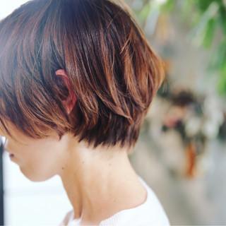 小顔 ショート マッシュ 似合わせ ヘアスタイルや髪型の写真・画像