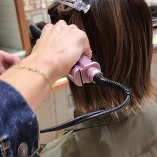 簡単ヘアアレンジ グラデーションカラー ゆるふわ 大人女子 ヘアスタイルや髪型の写真・画像