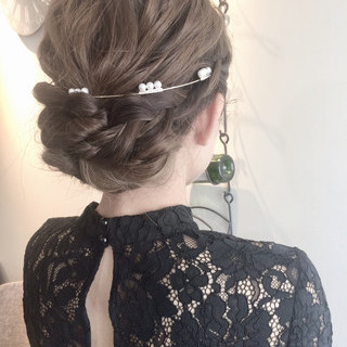 デート ロング アンニュイほつれヘア ヘアアレンジ ヘアスタイルや髪型の写真・画像