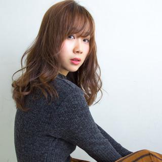 セミロング 大人かわいい フェミニン コンサバ ヘアスタイルや髪型の写真・画像