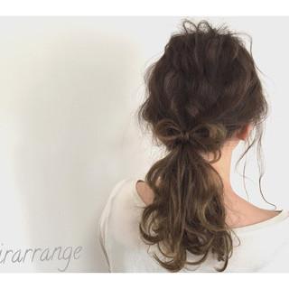 ナチュラル イルミナカラー セミロング リラックス ヘアスタイルや髪型の写真・画像