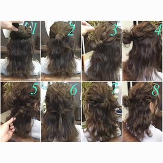 ゆるふわ ハーフアップ ミディアム ヘアアレンジ ヘアスタイルや髪型の写真・画像 ヘアスタイルや髪型の写真・画像