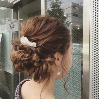 くるりんぱ ヘアアレンジ 簡単ヘアアレンジ 編み込み ヘアスタイルや髪型の写真・画像