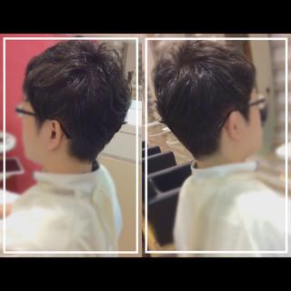 社会人の味方 ショート メンズ オフィス ヘアスタイルや髪型の写真・画像
