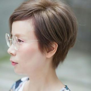 ショート モード オルチャン タンバルモリ ヘアスタイルや髪型の写真・画像