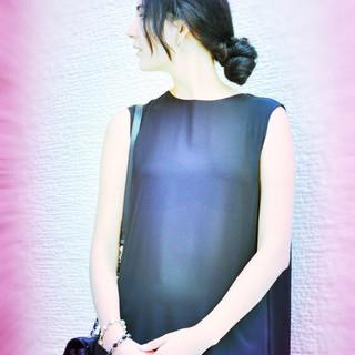 ヘアアレンジ ロング 簡単ヘアアレンジ ストリート ヘアスタイルや髪型の写真・画像