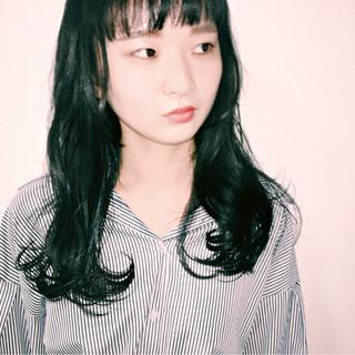 黒髪 ガーリー 暗髪 ダークアッシュ ヘアスタイルや髪型の写真・画像 ヘアスタイルや髪型の写真・画像