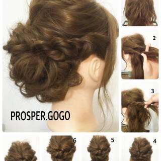 簡単ヘアアレンジ セルフヘアアレンジ 愛され コンサバ ヘアスタイルや髪型の写真・画像 ヘアスタイルや髪型の写真・画像