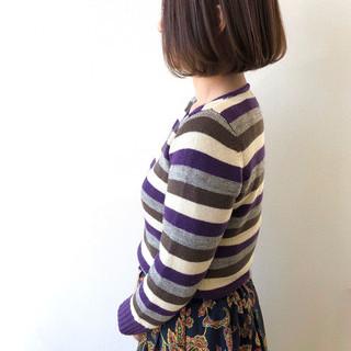 ナチュラル 大人かわいい ミニボブ 大人女子 ヘアスタイルや髪型の写真・画像