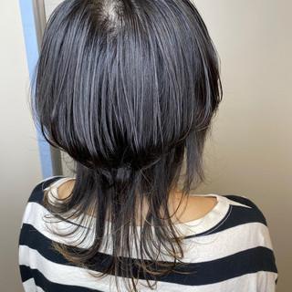 ミディアム ストリート ウルフカット ヘアスタイルや髪型の写真・画像