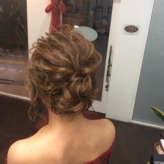 成人式 簡単ヘアアレンジ ヘアアレンジ ミディアム ヘアスタイルや髪型の写真・画像