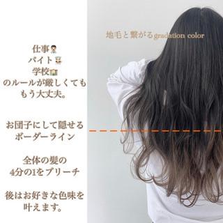 デート ミルクティーベージュ ナチュラル グラデーションカラー ヘアスタイルや髪型の写真・画像