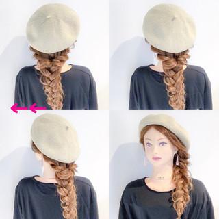 フェミニン アウトドア 簡単ヘアアレンジ 女子会 ヘアスタイルや髪型の写真・画像