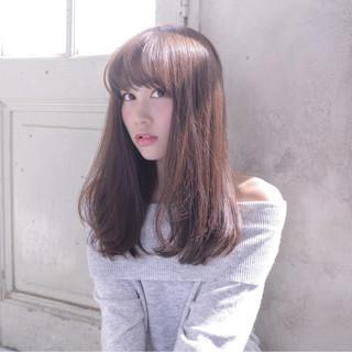 ゆるふわ アンニュイ セミロング ストリート ヘアスタイルや髪型の写真・画像
