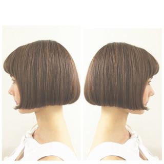 ワンレングス ナチュラル クラシカル ミニボブ ヘアスタイルや髪型の写真・画像