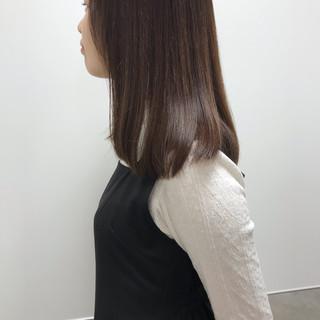 福岡市 ツヤ髪 ミディアム 大人カジュアル ヘアスタイルや髪型の写真・画像
