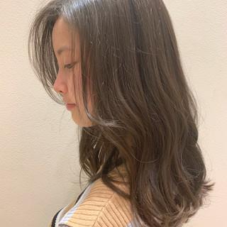 オフィス デート ナチュラル セミロング ヘアスタイルや髪型の写真・画像