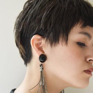ショート ナチュラル ストレート ベリーショート ヘアスタイルや髪型の写真・画像