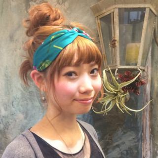 ショート お団子 ヘアアレンジ ミディアム ヘアスタイルや髪型の写真・画像