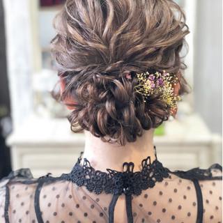 エレガント 大人かわいい シニヨン パーティ ヘアスタイルや髪型の写真・画像