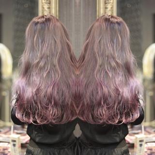 ロング 愛され グラデーションカラー ストリート ヘアスタイルや髪型の写真・画像