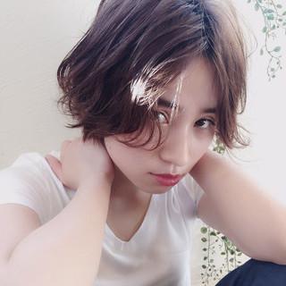 黒髪 ショート ガーリー モード ヘアスタイルや髪型の写真・画像