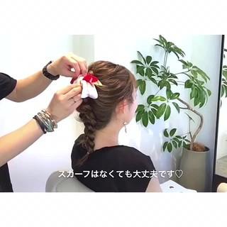 編み込み 結婚式 フェミニン ロング ヘアスタイルや髪型の写真・画像