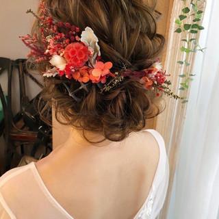 ヘアアレンジ 結婚式ヘアアレンジ 大人かわいい 結婚式髪型 ヘアスタイルや髪型の写真・画像