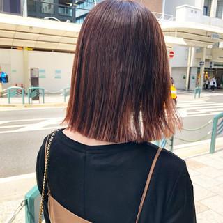 ピンク ミディアム ベリーピンク ピンクアッシュ ヘアスタイルや髪型の写真・画像