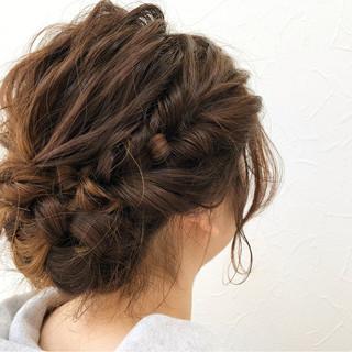 ガーリー パーティ 成人式 セミロング ヘアスタイルや髪型の写真・画像