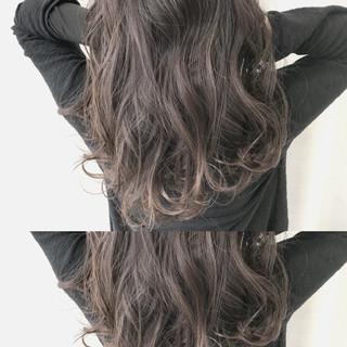 エレガント ロング パーマ アウトドア ヘアスタイルや髪型の写真・画像