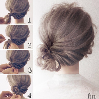 ウェーブ フェミニン ロング ヘアアレンジ ヘアスタイルや髪型の写真・画像