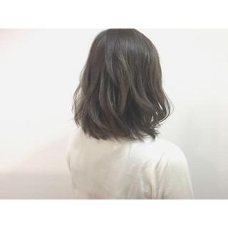 アッシュ ナチュラル 色気 ボブ ヘアスタイルや髪型の写真・画像