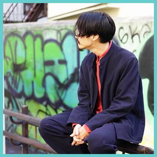 ストリート ボーイッシュ ミディアム パーマ ヘアスタイルや髪型の写真・画像