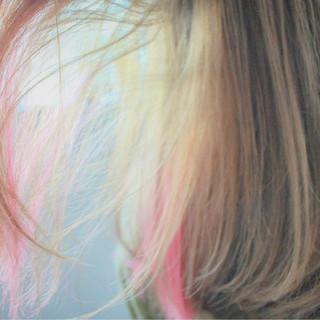 ハイトーン 透明感 ピンク ロング ヘアスタイルや髪型の写真・画像
