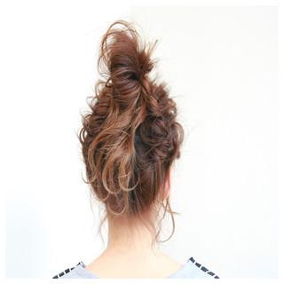 ヘアアレンジ 前髪あり ナチュラル ミルクティー ヘアスタイルや髪型の写真・画像