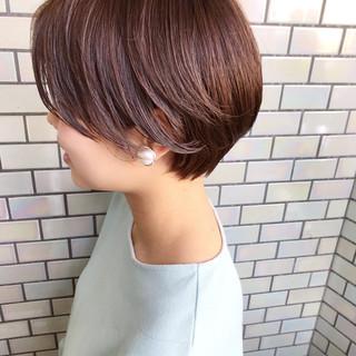 ショート ナチュラル ヘアアレンジ オフィス ヘアスタイルや髪型の写真・画像
