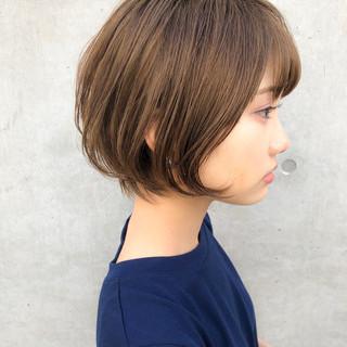 小顔ショート ナチュラル ショート 小顔ヘア ヘアスタイルや髪型の写真・画像