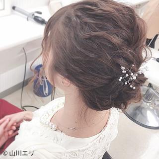 ゆるふわ シニヨン パーティヘア  ヘアスタイルや髪型の写真・画像