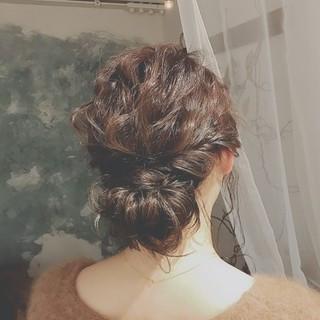 ロング パーティ 大人かわいい 冬 ヘアスタイルや髪型の写真・画像