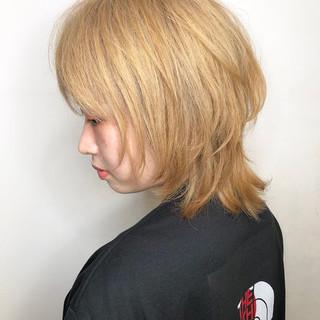 ミディアム ホワイティベージュ 外国人風 イルミナカラー ヘアスタイルや髪型の写真・画像