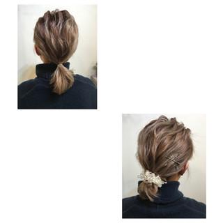 簡単ヘアアレンジ ボブ ルーズ ヘアアレンジ ヘアスタイルや髪型の写真・画像 ヘアスタイルや髪型の写真・画像