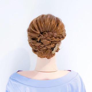 アップスタイル 結婚式 和装 フェミニン ヘアスタイルや髪型の写真・画像