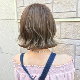 ハイライト ボブ かわいい ナチュラル ヘアスタイルや髪型の写真・画像 ヘアスタイルや髪型の写真・画像