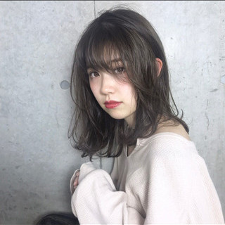 ミディアム 秋 ヘアアレンジ 透明感 ヘアスタイルや髪型の写真・画像 ヘアスタイルや髪型の写真・画像