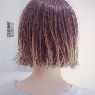 外国人風 ハイライト モード グラデーションカラー ヘアスタイルや髪型の写真・画像