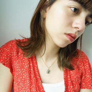 オフィス 簡単ヘアアレンジ ミディアム うぶ毛ハイライト ヘアスタイルや髪型の写真・画像 ヘアスタイルや髪型の写真・画像