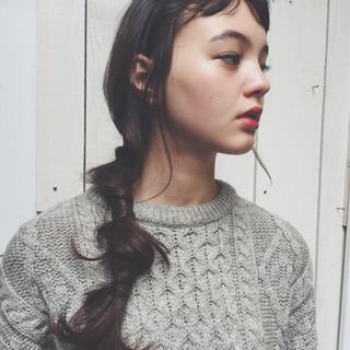 外国人風 前髪あり ヘアアレンジ ゆるふわ ヘアスタイルや髪型の写真・画像 ヘアスタイルや髪型の写真・画像
