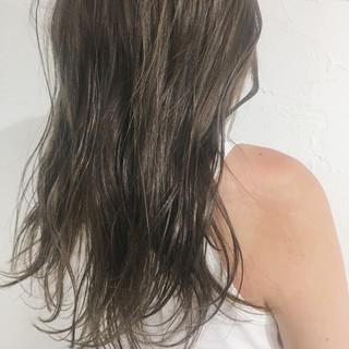 透明感 秋 抜け感 ハイライト ヘアスタイルや髪型の写真・画像